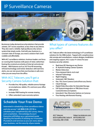 IP surveillance camera system brochure for businesses in Maryland, Washington DC and Virginia