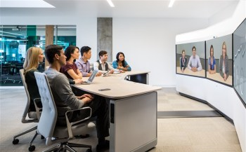Business professionals on video conference call in Maryland and Washington DC.