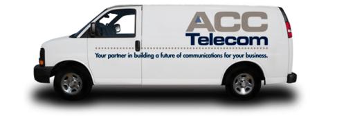 Service van with ACC Telecom logo