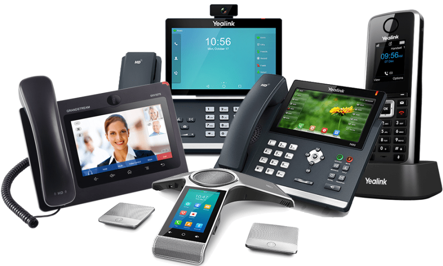 Yealink and Grandstream SIP phones supported for hosted cloud phone systems