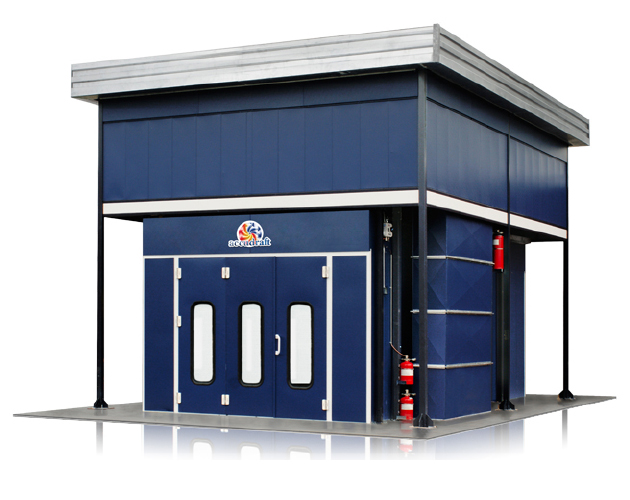 Accudraft Outdoor Paint Booth Overhead Mechanical Enclosure In