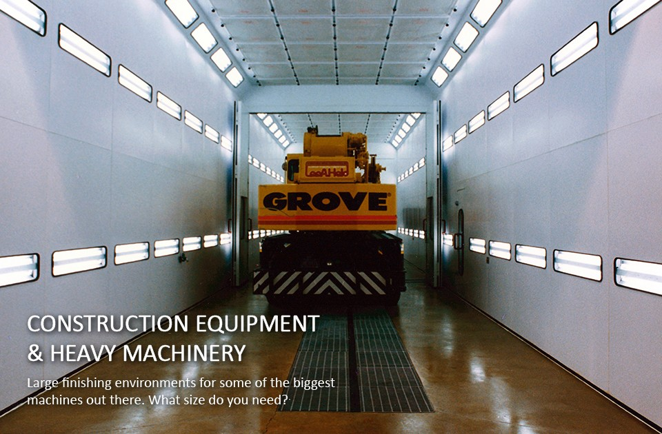Grove-truck-paint-booth-for-construction-equipment-finishing