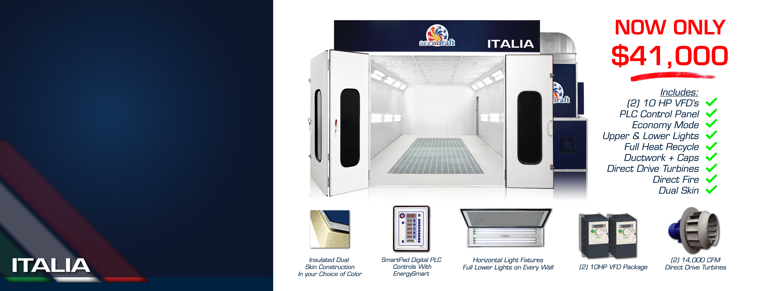 Italia Downdraft Paint Booth 41,000 Dollars