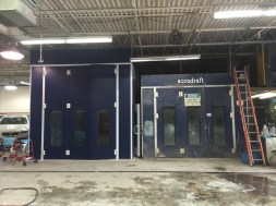 Accudraft Paint Booth with Upgraded Unit