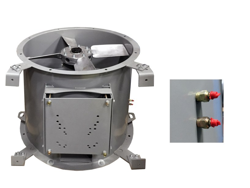 Pro series paint booths accudraft for Paint booth fan motor