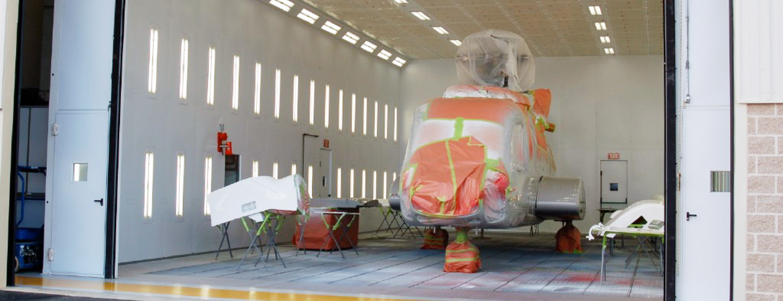 Helicopter Aerospace Paint Booth