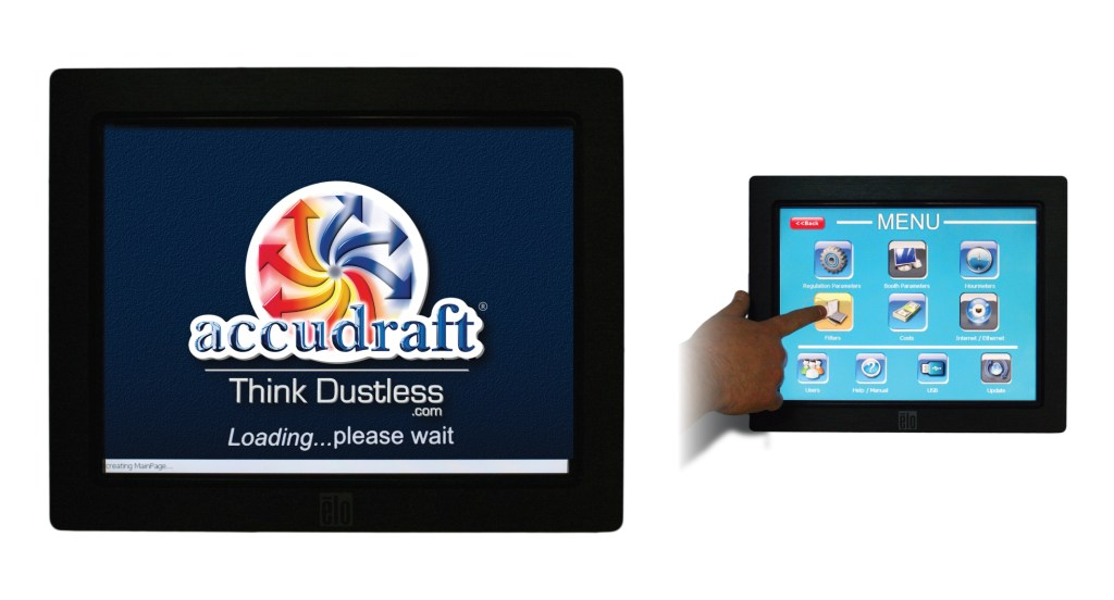 Accudraft-FOCUS-Touchscreen-Control-Panel-for-Paint-Booth-with-Remote-Monitoring