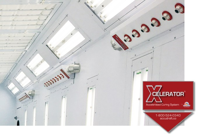 Xcelerator Waterborne Paint Drying System For Paint Booth