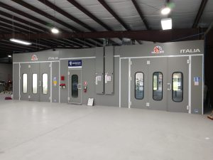 Accudraft Italia downdraft paint booths