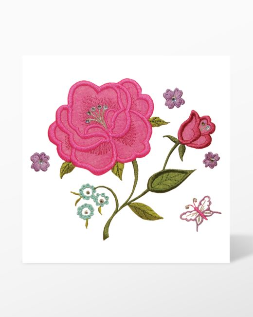 coming up roses embroidery