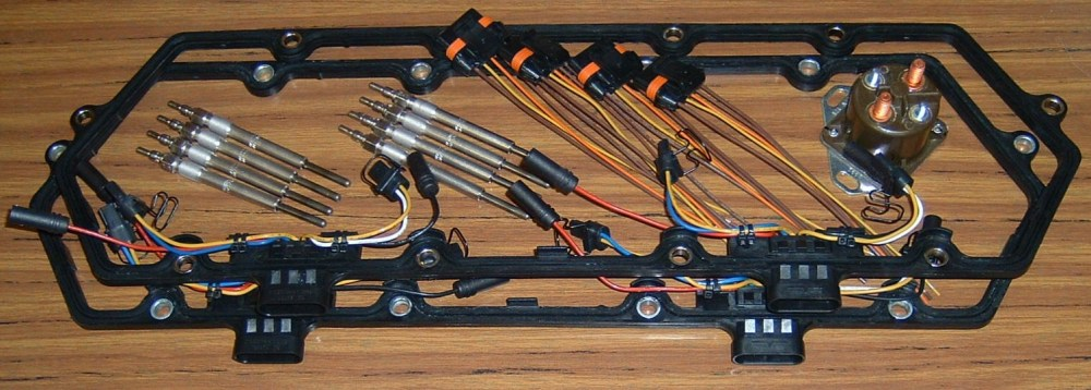 medium resolution of glow plug 6 0 wire harnes system