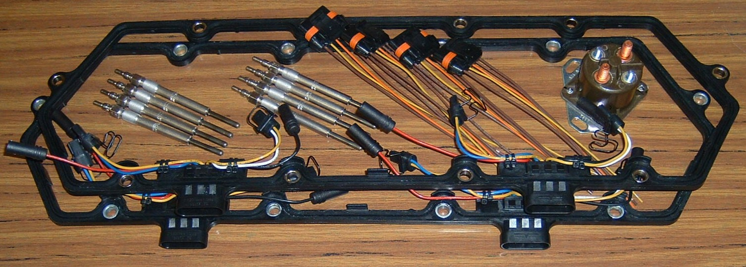 hight resolution of glow plug 6 0 wire harnes system