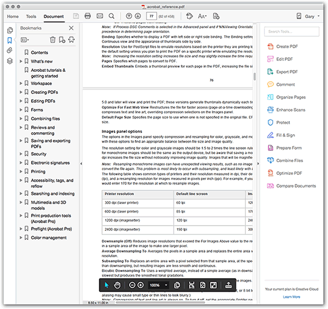 how to resize pdf file in acrobat reader dc