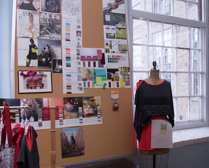 Mood Board and Dress Form