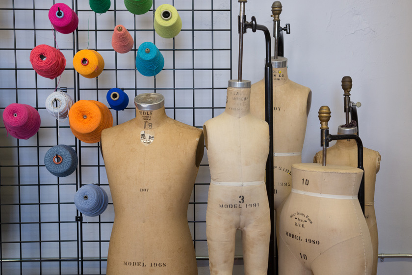 Dress forms in the design room
