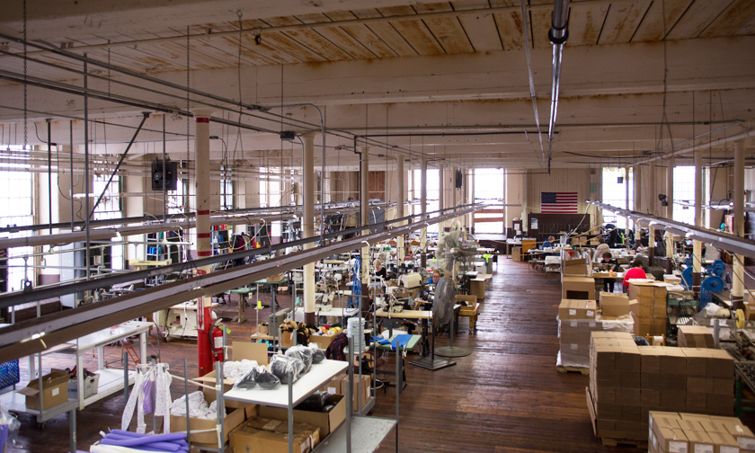 Our main apparel production area