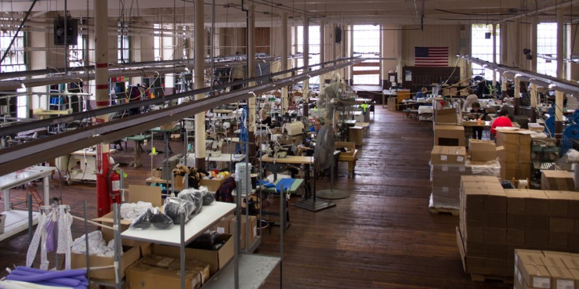 Overview of our sewing department