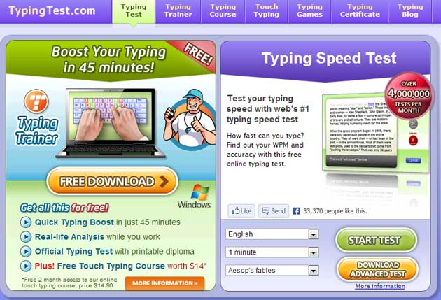 typingtest software for free