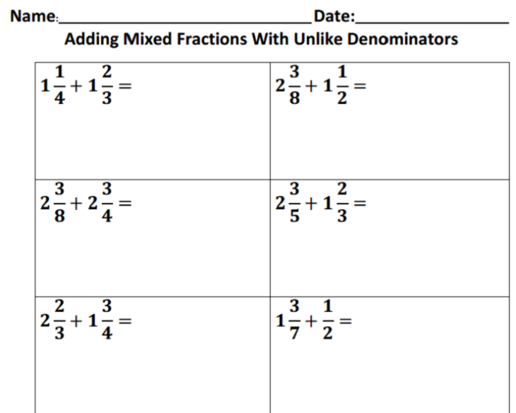 adding-fractions-with-unlike-denominators
