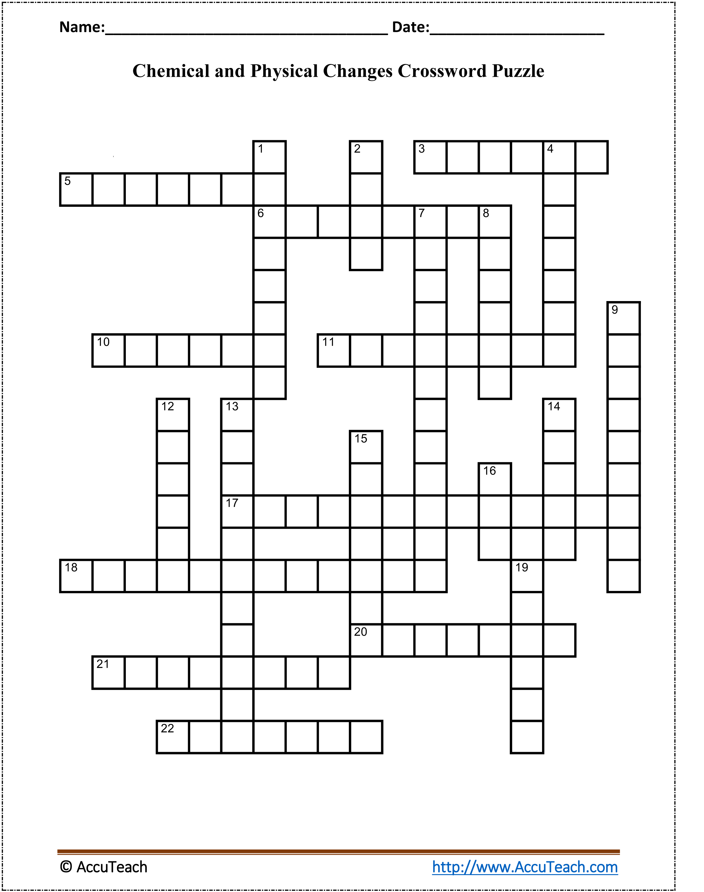 Chemical and Physical Changes Crossword Puzzle - AccuTeach [ 3111 x 2456 Pixel ]