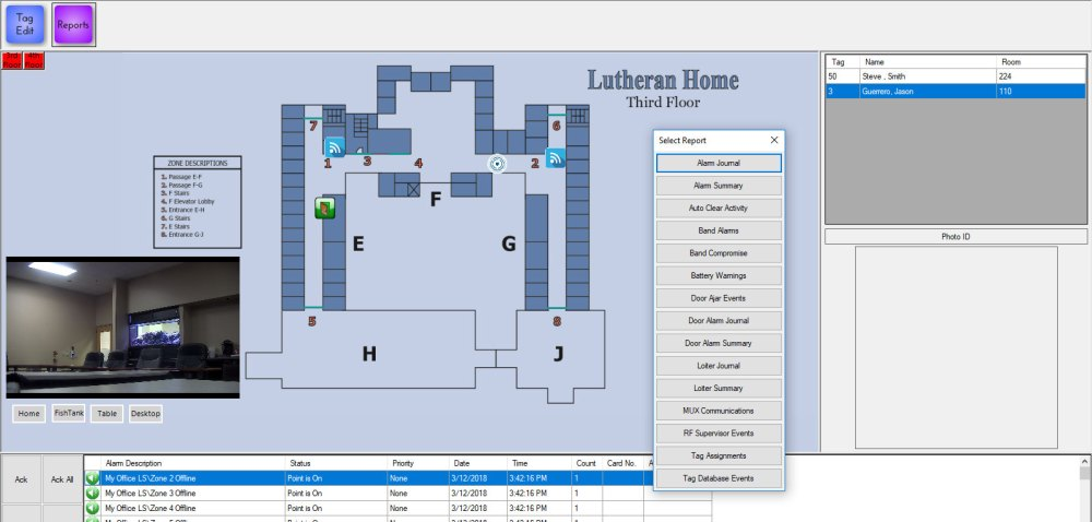 medium resolution of customized community floor plan with event notification and reporting