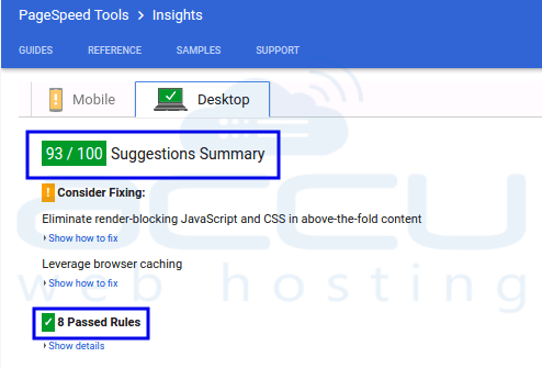 Google Page Speed Insight Server Response Time Feedback Fixed