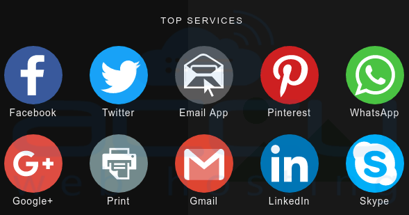AddThis top service widgets