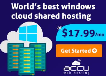 Windows Cloud Shared Hosting - AccuWebHosting