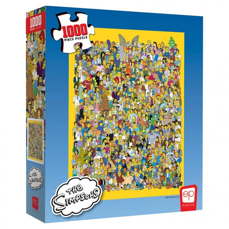 Puzzle: Simpsons Cast Thousands 1000 pc
