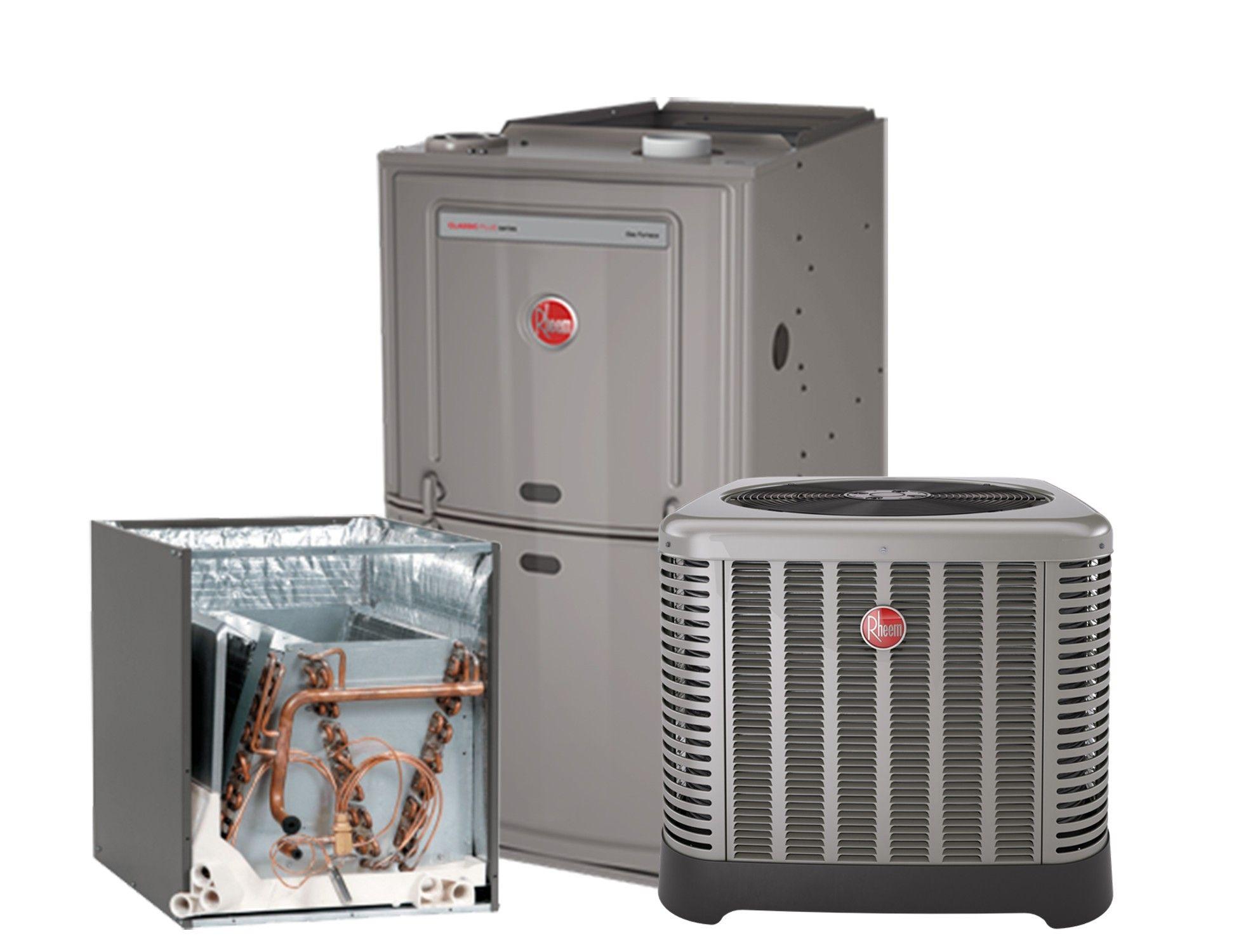 Rheem 2.0 Ton 14 SEER AC system with 80% 50K BTU Natural