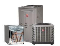 Rheem 2.0 Ton 14 SEER AC system with 80% 50K BTU Natural