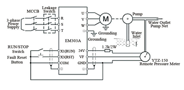 2 speed motor wiring diagram banshee lights variable frequency drive for constant pressure water supply
