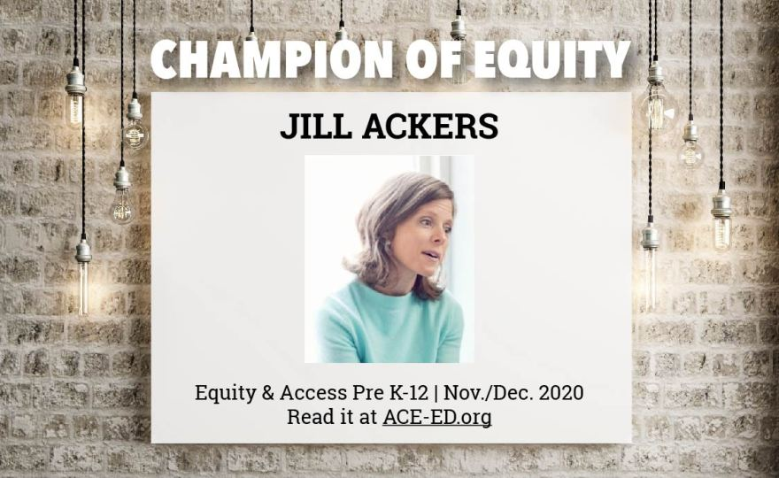 Jill Ackers, Champion of Equity