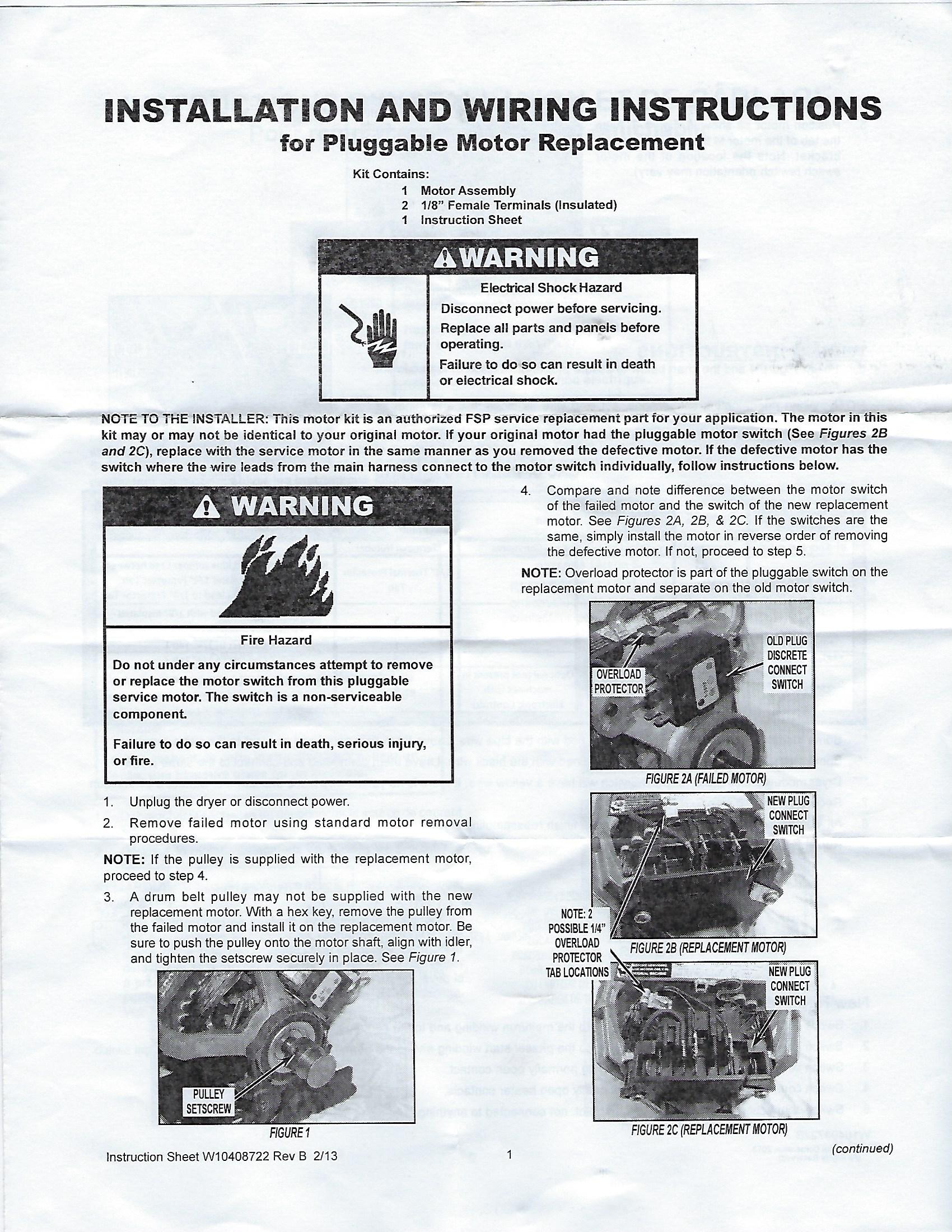 maytag dryer wiring diagram rj45 ethernet i purchased a replacement motor w10410999 for my