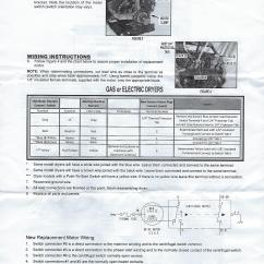 Wiring Installation Diagram 1970 Vw Beetle Ignition Switch I Purchased A Replacement Motor W10410999 For My Maytag