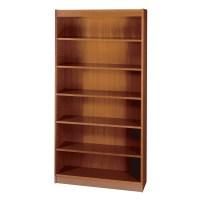 Safco 7-Shelf Square-Edge Veneer Bookcase, Cherry [Kitchen]