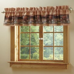 Valances For Kitchen Windows Campingaz Cher Bear Decor: Tranquil Deer Cabin Woods Rustic Decor ...