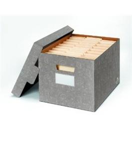 Stor File Decorative Storage Box Letter Legal Cornflower Blue 4 Carton