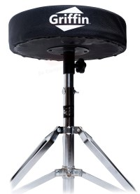 Drum Throne - Griffin Padded Seat Drummers Stool Stand ...