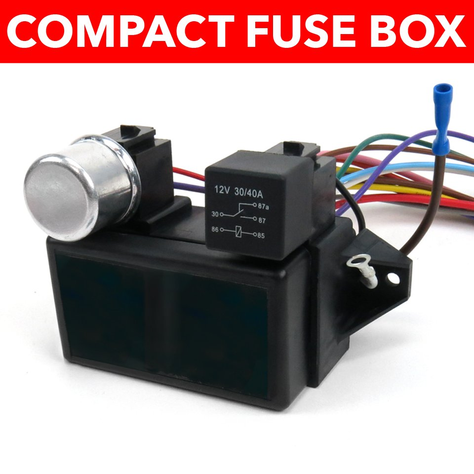 hight resolution of 1964 1967 chevrolet chevelle wire harness fuse block upgrade kit