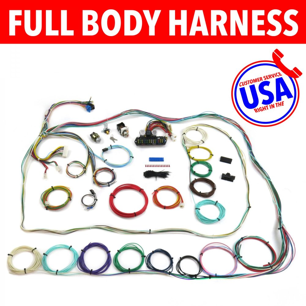 medium resolution of 67 72 chevrolet c10 c15 rear coil truck wire harness upgrade kit fits painless