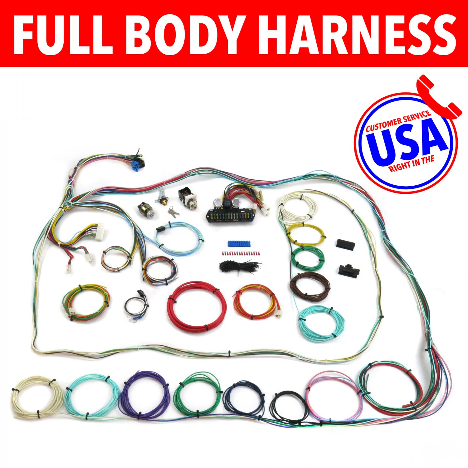 hight resolution of 67 72 chevrolet c10 c15 rear coil truck wire harness upgrade kit fits painless
