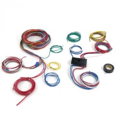 dune buggy universal wiring harness w fuse box fits empi 9466 vw dune buggy ignition switch wiring rail buggy wiring harness [ 1500 x 1500 Pixel ]