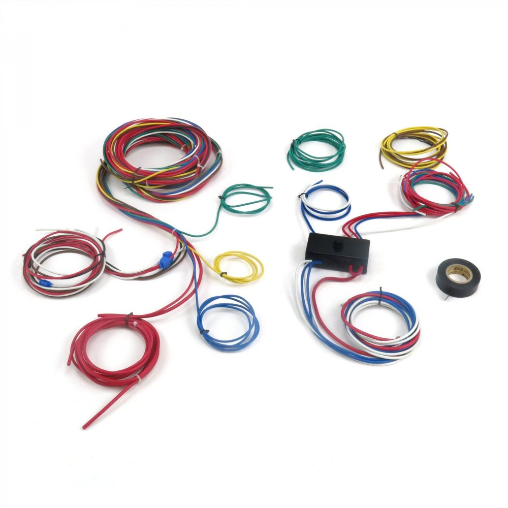 medium resolution of dune buggy universal wiring harness w fuse box fits empi 9466 vw dune buggy ignition switch wiring rail buggy wiring harness