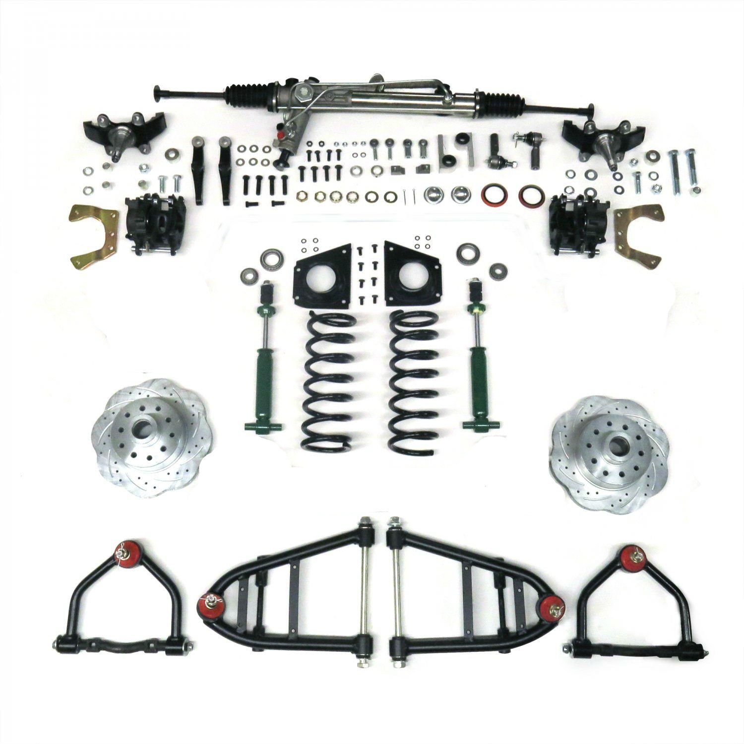 Mustang Ii Ifs Kit With Power Steering Rack For 49 62 Ford