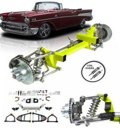 1955 1957 chevy tri five bel air power steering cornerkiller ifs kit coil over [ 1500 x 1500 Pixel ]