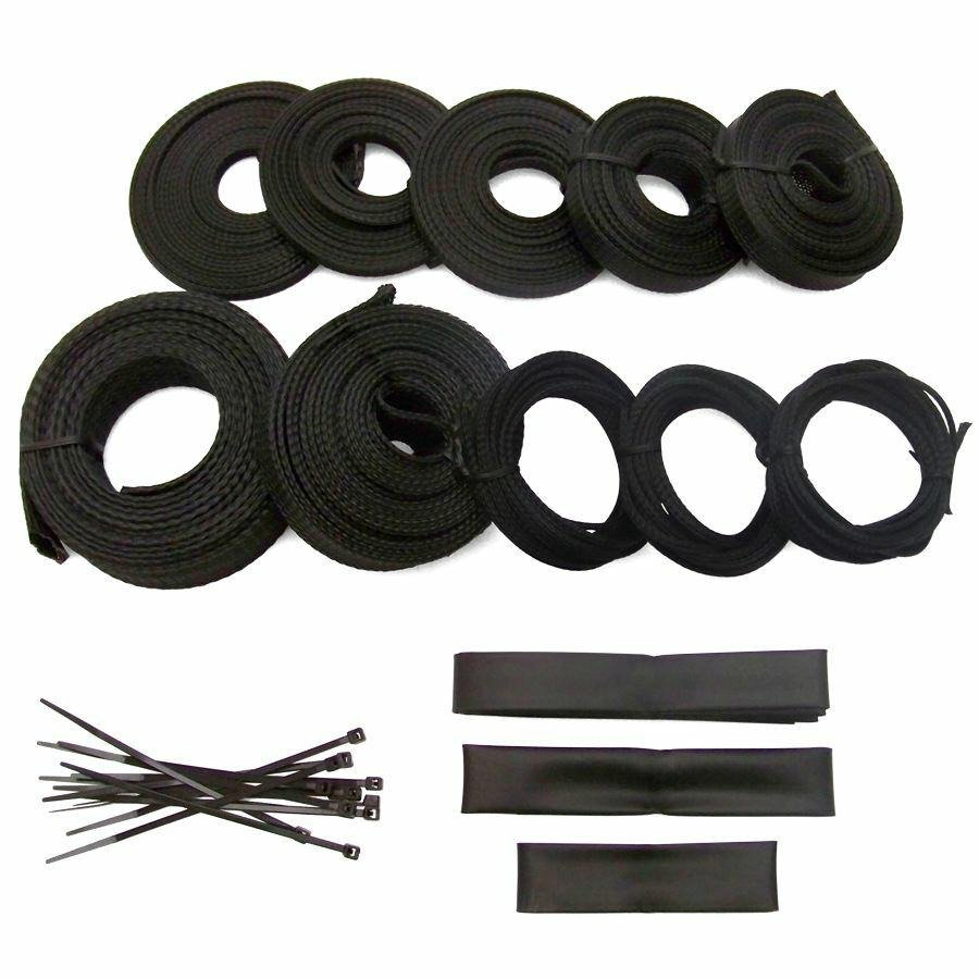 hight resolution of ultra power braided wrap wire harness loom kit for amc 127ft ebay hyundai wiring harness amc wiring harness straps