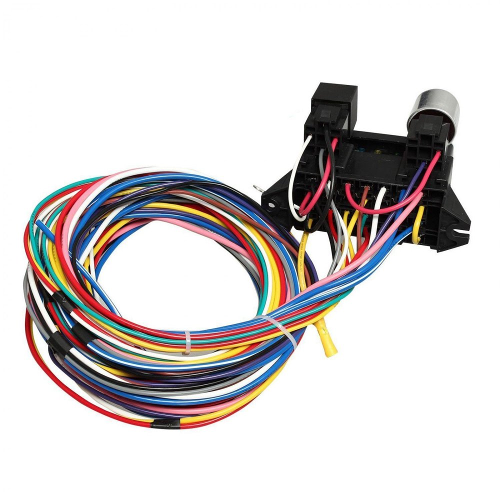 medium resolution of new 12 circuit wire harness muscle car hot rod street rod xl wires ez wiring 12