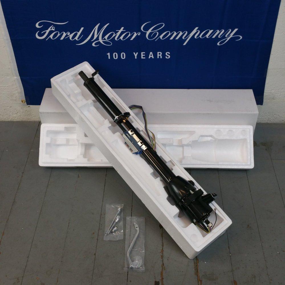 medium resolution of black steering column for 1965 1966 ford galaxie 33 tilt steering keyed bar product description c