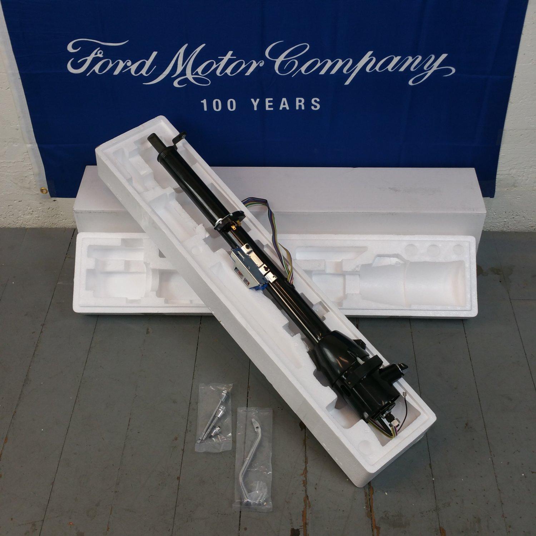 hight resolution of black steering column for 1965 1966 ford galaxie 33 tilt steering keyed bar product description c
